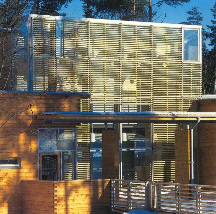 High façade louvre, Misteli Daycare Centre