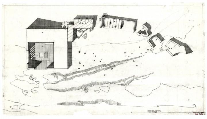 Site plan, Muuratsalo Experimental House