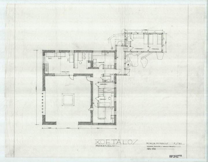 Floor plan, Muuratsalo Experimental House