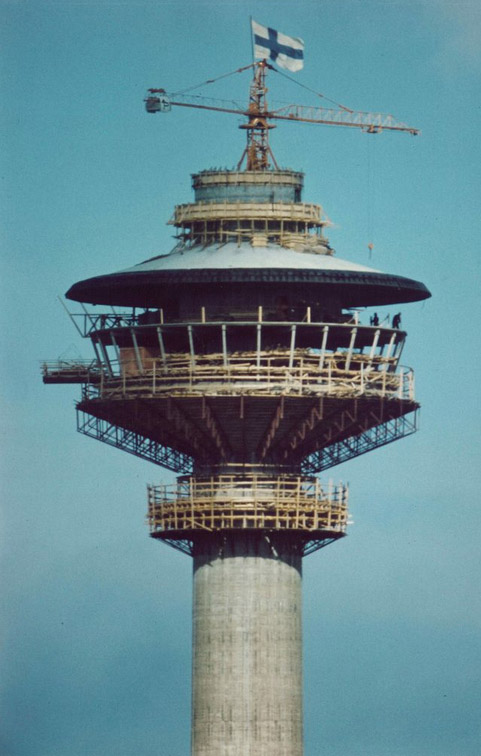 The construction, Näsinneula Observation Tower