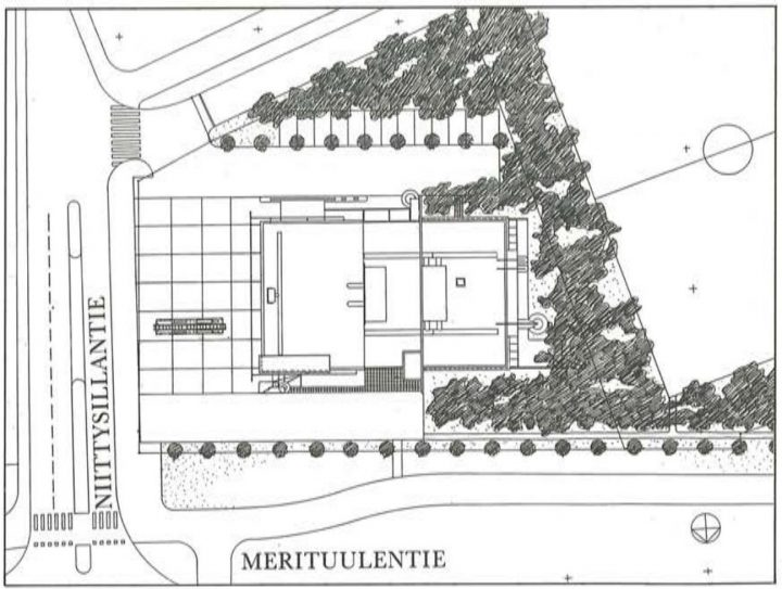 Site plan, Niittykumpu Fire Station