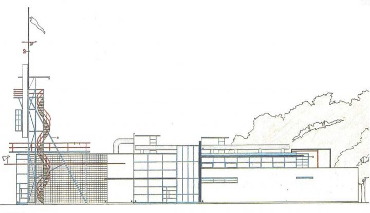 Northern elevation plan, Niittykumpu Fire Station