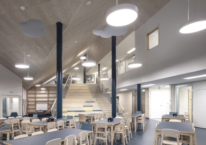 Multipurpose space serving as canteen, Taika Kindergarten