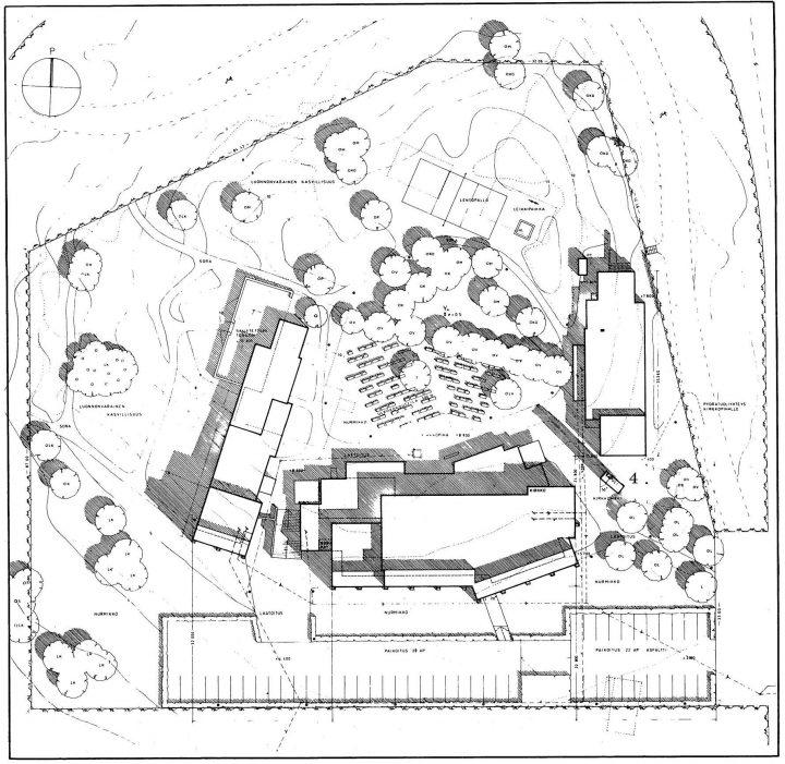Site plan, Olari Church