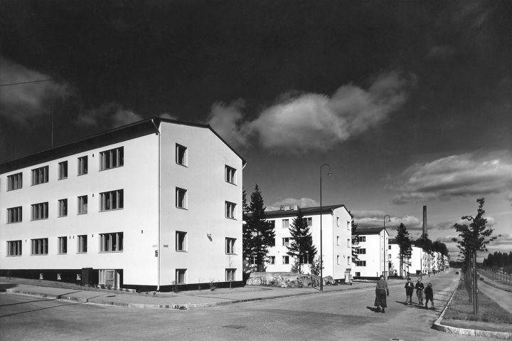 Koskelantie streetview in the Olympic Village photographed in 1940, Olympic Village