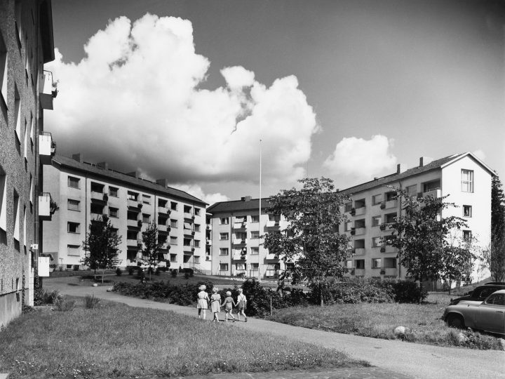 Koskelantie 27 in the Games Village photographed in the late 1950s, Olympic Village