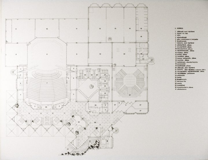 Floorplan of the first floor, Lahti City Theatre
