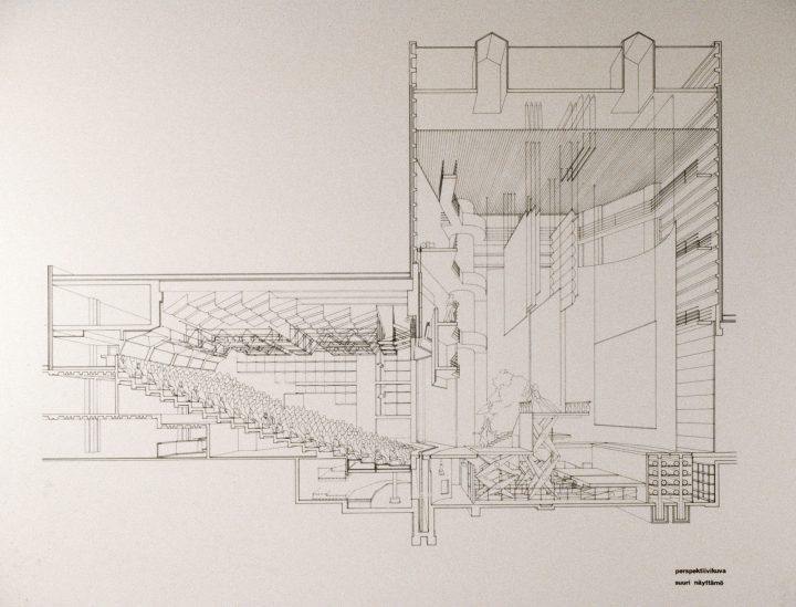 Elevation of the large stage, Lahti City Theatre