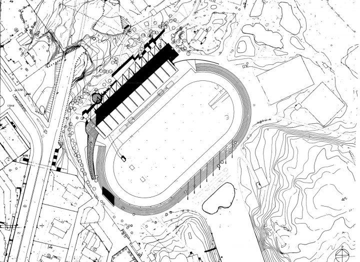 Site plan, Paavo Nurmi Stadium