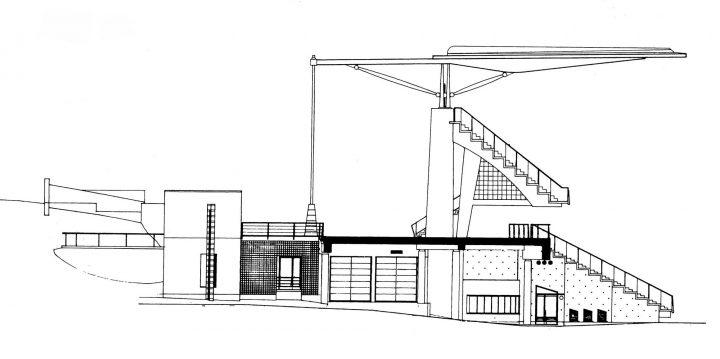Section plan, Paavo Nurmi Stadium