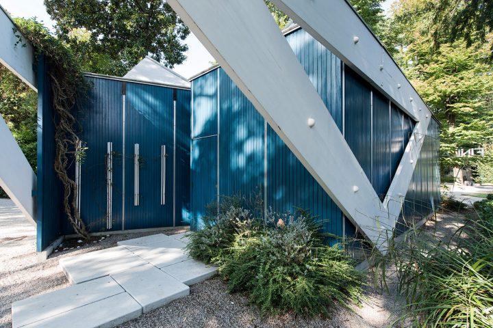 Backside entrance, Aalto Pavilion