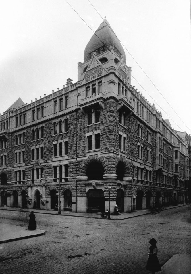 The street façade in the early 1900s, Pohjola Insurance Company