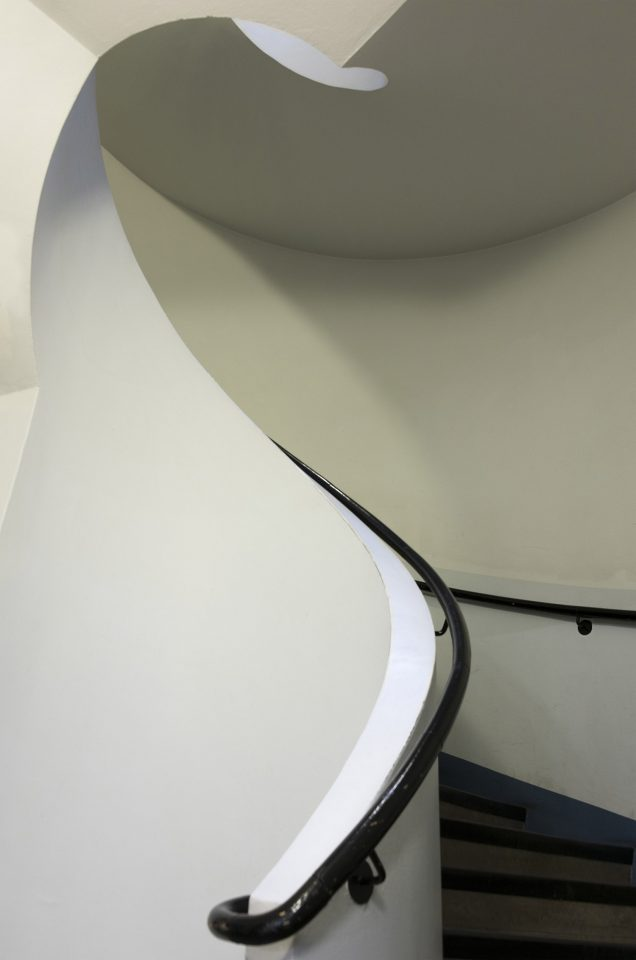 Staircase with original details, Malmi Airport