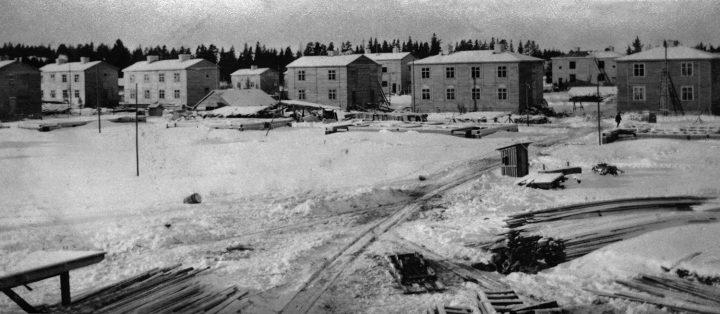 Pohjolankatu wooden houses photographed in 1920, Puu-Käpylä Wooden House Area