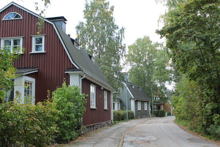 Nyyrikintie street view, Puu-Käpylä Wooden House Area