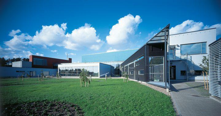 Courtyard, Raisio Library and Auditorium
