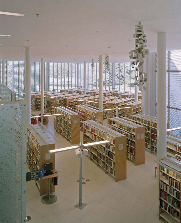 Lending deparment, Rauma Main Library