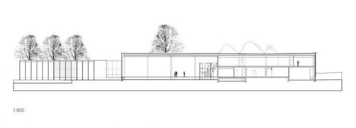 Section plan, Rauma Main Library