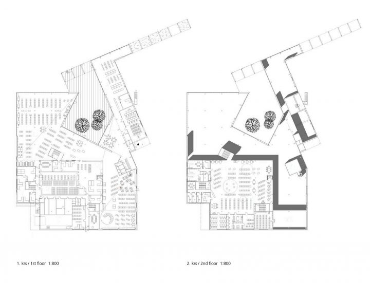 Floor plans, Rauma Main Library