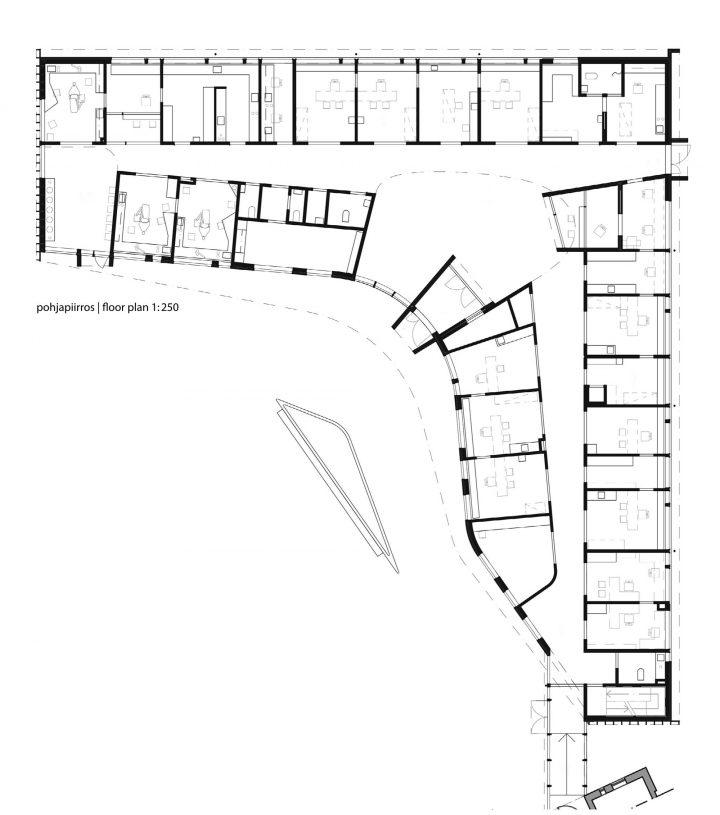 Room plan, Ruukki Healthcare Centre