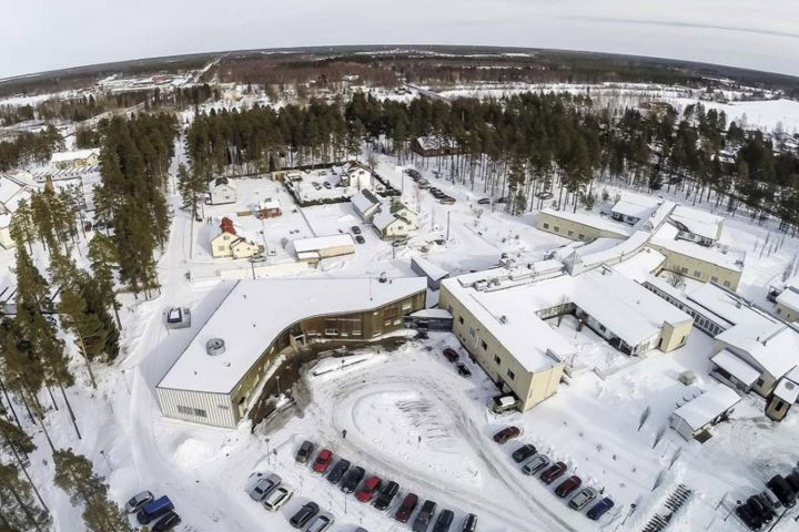 Aerial view from south, Ruukki Healthcare Centre