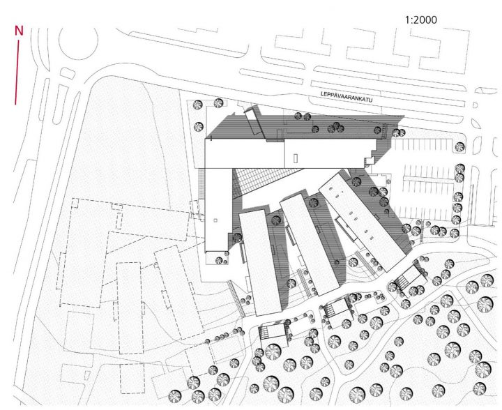 Site plan, Ruusutorppa School