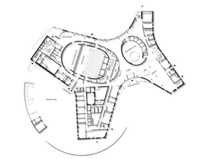 Ground floor, Sámi Cultural Center Sajos