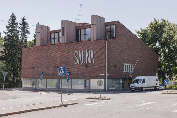 Maunula community centre, designed by Viljo Revell, was originally a public sauna , Sahanmäki Residential Area