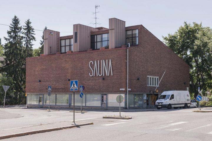 Maunula community centre, designed by Viljo Revell, was originally a public sauna , Sahanmäki Residential Area
