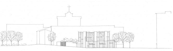 South elevation, Sandels Cultural Centre