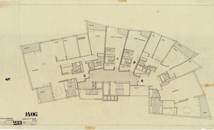 Floor plan, Schönbühl Apartment House and Commercial Centre