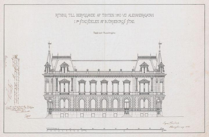 "Original drawing by Signe Hornborg, Newander's house (""Signe Castle"")"