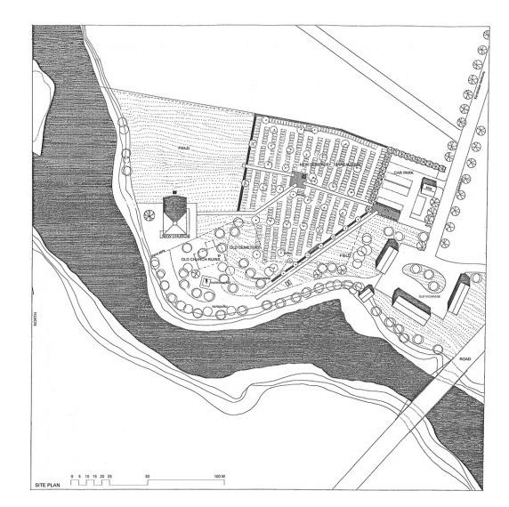Site plan, Kärsämäki Shingle Church