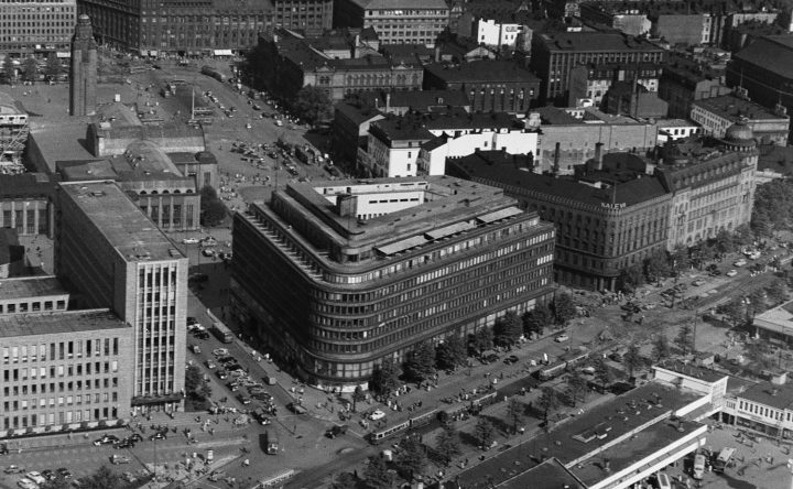 Aerial view in 1952, Sokos Department Store