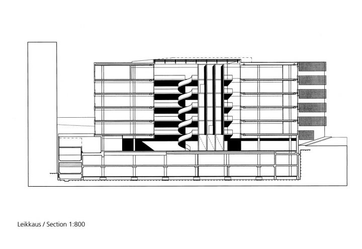 Section plan, Sonera Office Building
