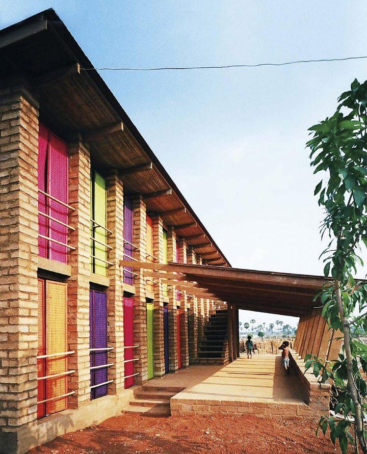 Main elevation and canopy, Sra Pou Vocational School