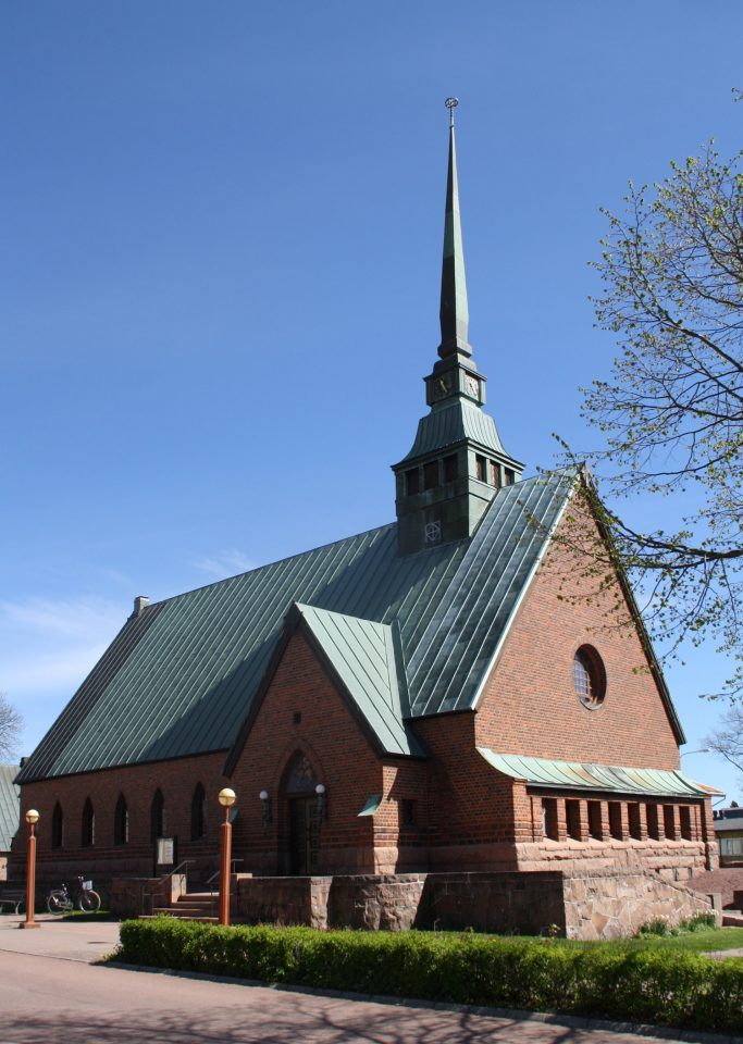 Church photographed from the southwest, St. George Church