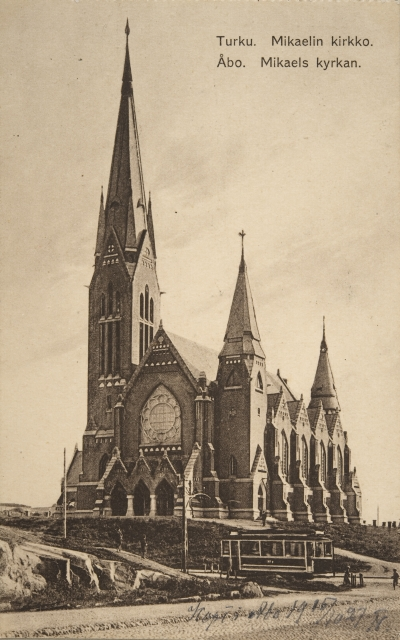 View from the north in the 1900s, St. Michael Church