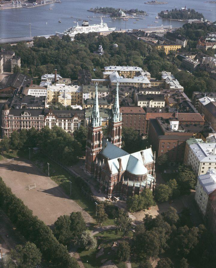 Aerial view, St. John's Church