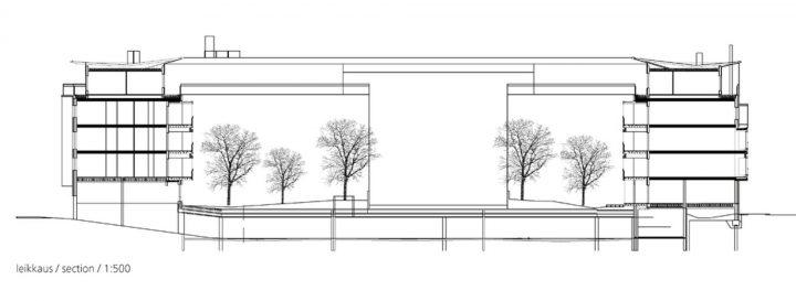 Section plan, Stanssi & Svingi Housing