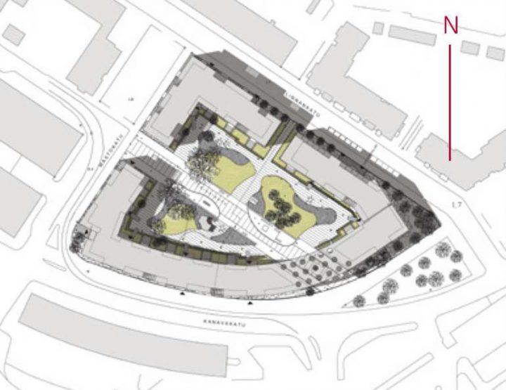 Site plan, Stanssi & Svingi Housing