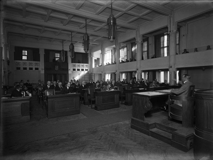 The stock exchange hall photographed in 1919, Stock Exchange Building