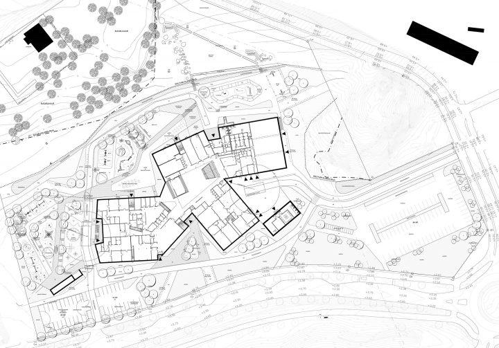 The site plan, Syvälahti School and Community Centre