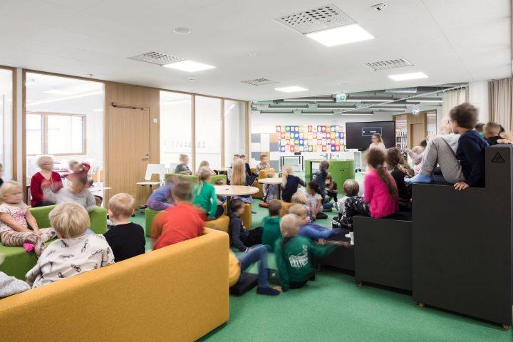 The interior, Syvälahti School and Community Centre