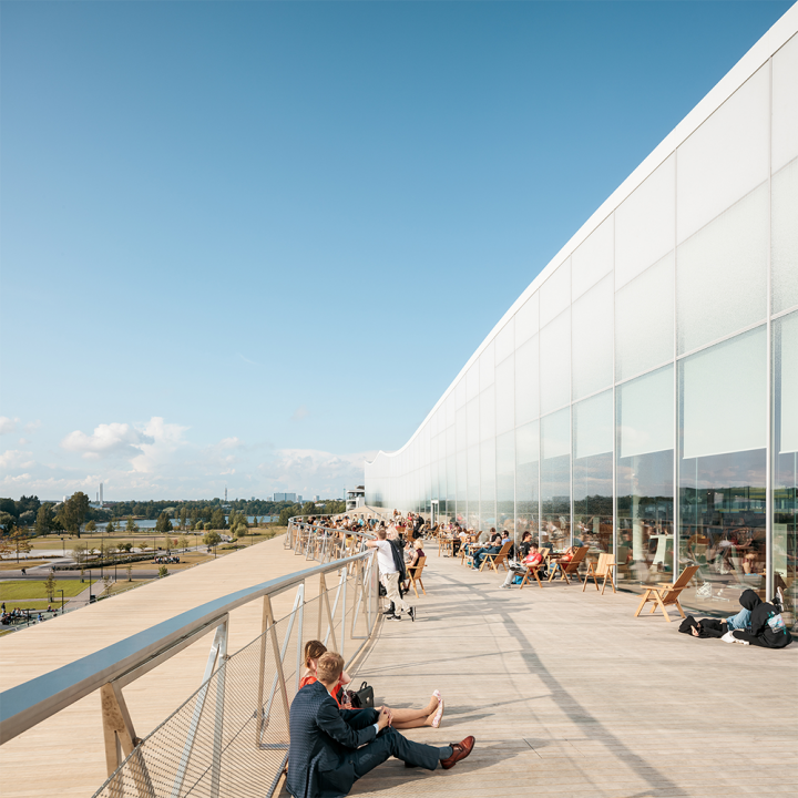 Top floor balcony, Helsinki Central Library Oodi