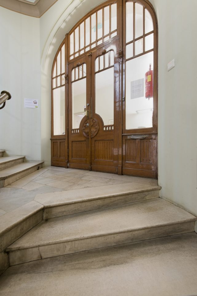Decorative door in the staircase, Tallberg House
