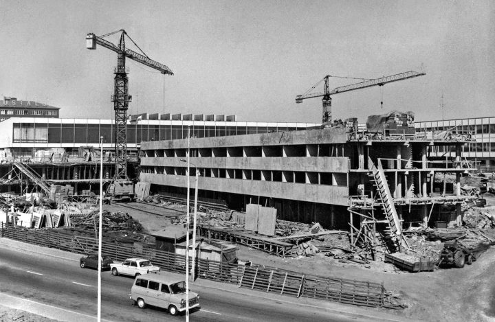 Construction of the main building, Tampere University Main Building