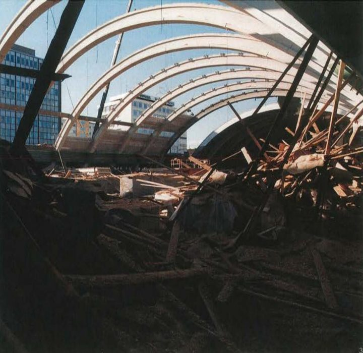 Construction site in the 1990s, Tennis Palace