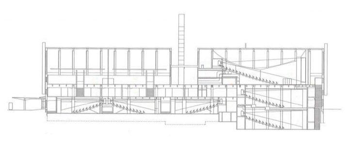 Section plan, Tennis Palace