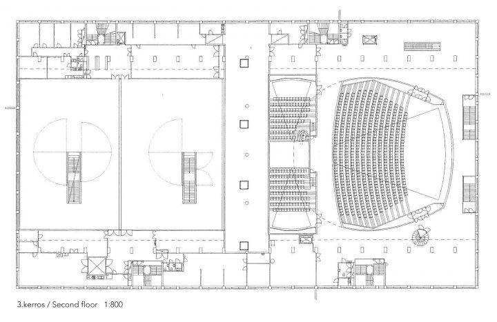 Second floor, Tennis Palace